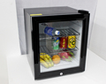 No noise 42L refigerator freezer fridge,glass door clear mini fridge,glass door bar fridge