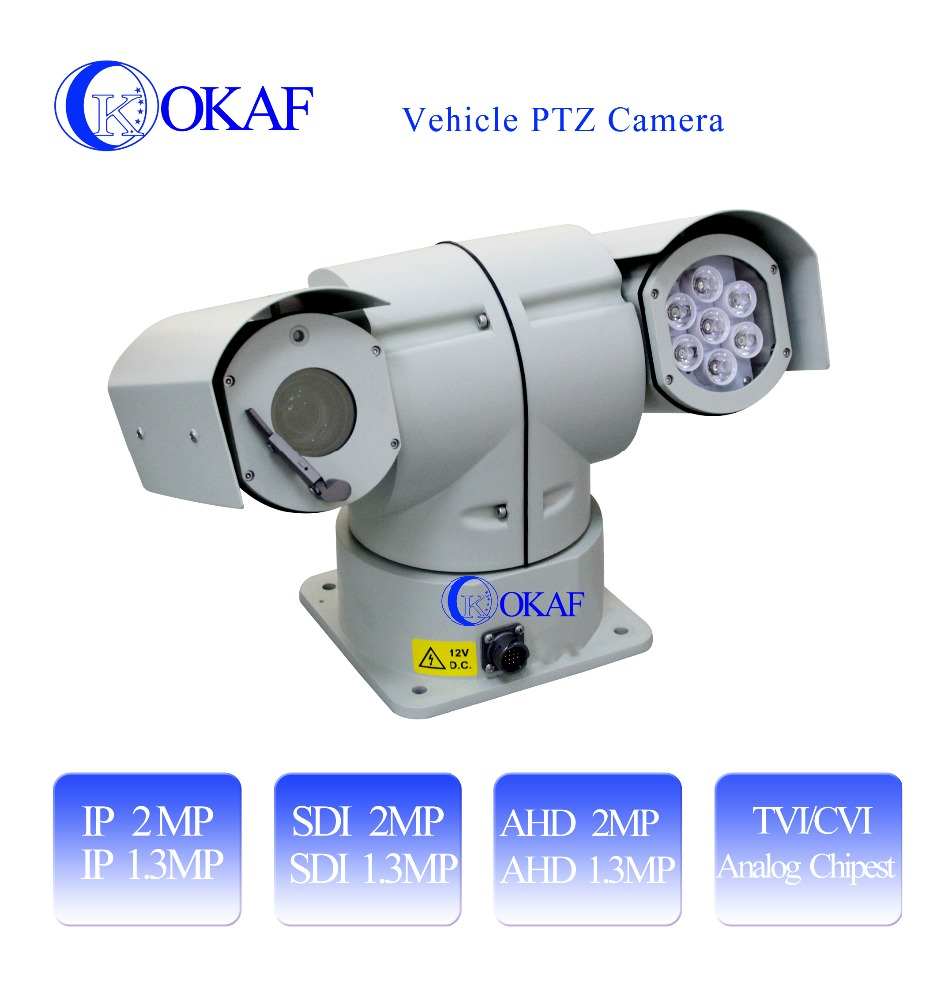 Best selling outdoor 1080P HD 20X optical zoom IP/SDI/AHD/Analog car ptz camera