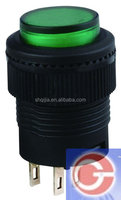 LED Light Illuminated Green Round Momentary Push Button Switch