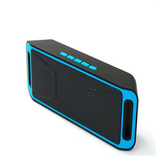 Wireless Bluetooth Speaker, Caixa De Som column Stereo Subwoofer USB Speakers TF FM Radio Built-in Mic Dual Bass Sound Box SC208