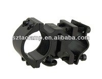 2.75 inches Practical LED Flashlight Torch Alloy Gun Mount Holder Clip (Black)