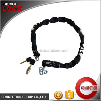 2016 High Safety bicycle chain lock /bike Safe Combination chain bike lock