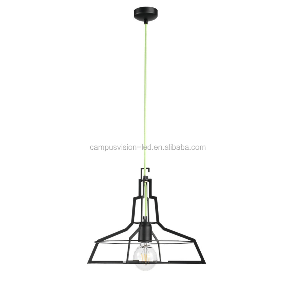Alibaba highly recommened products Pure handmade Black Iron artcraft hanging light fixture with 1-light as a promotion gift