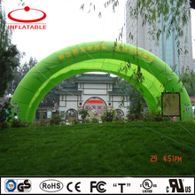inflatable double tube green event arch tent for advertising