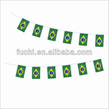 Polyester Bunting Flag Brazil Rope Flag Brazil String Flag for Euro 2014