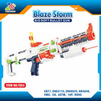 electronic airsoft shooter with laser and light/abs plastic rifle shooter target shooting toys/foam bullet shooter in green
