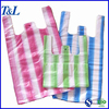 Eco-friendly good and cheap plastic stripe shopping bag manufactured by factory T&L brand