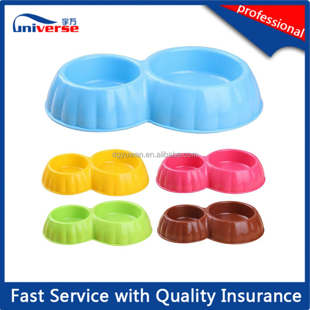 Plastic pet dish / dog cat puppy food feeding bowl