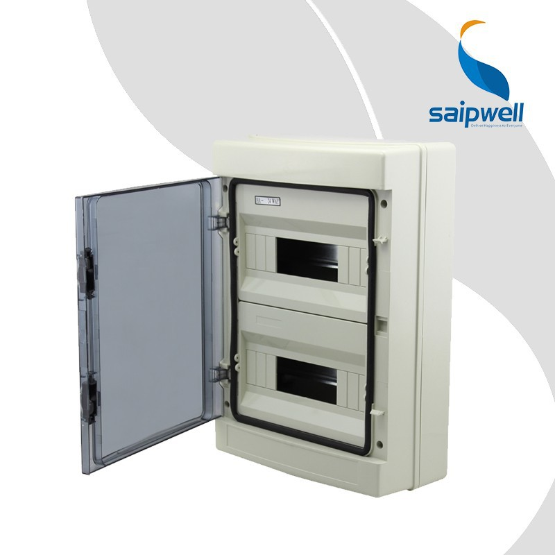 Saipwell 24 Ways USA Standard Distribution Boxes Electrical CE Standard IP65 Waterproof Electrical Panel