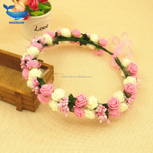Simulation of plant rattan Simulation rose flower Wedding decoration Woven garlands