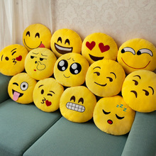 Bedding Outlet Cute Emoji Cushion Home Smiley Face Pillow Stuffed Toy Soft Plush For Sofa Car Seat Diameter 30cm Funny Cushion