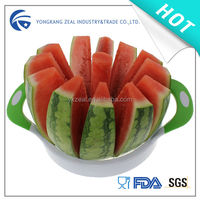 zeal Classic colorful plastic food grade premium stainless steel water melon slicer cutter