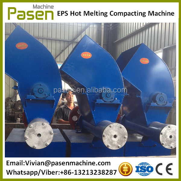Waste EPS Foam Recycling Machine, Plastic Foam Block Melting Forming Machine