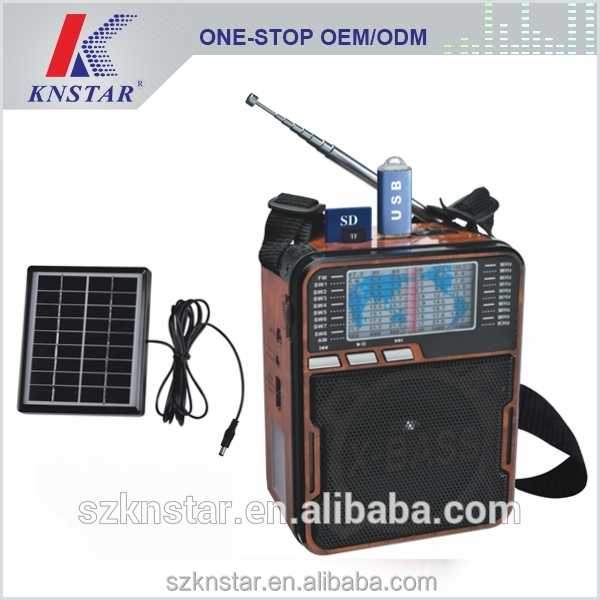 DSP high sensitivity radio with solar panel FP-1352U-S