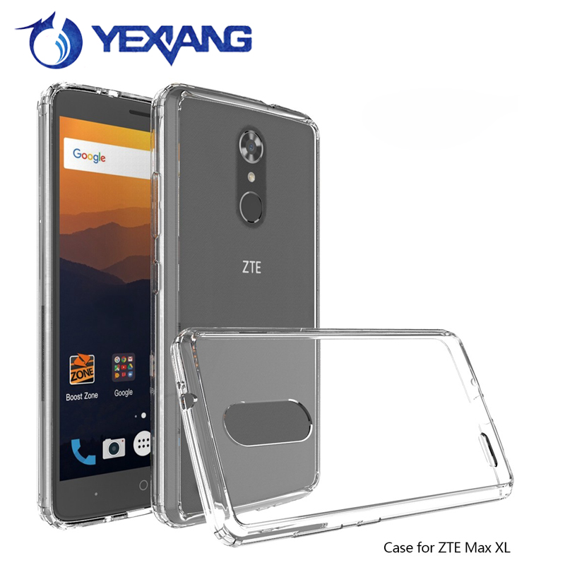 Cell phone accessories Fashion Hybrid Clear Acrylic hard back Case For ZTE Z981