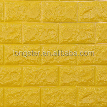 High Quality New Design self adhesive 3D Brick PE Foam Wall Panel Olimy band.