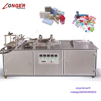 Cosmetic Box Lens Paper Plastic Film Packaging Sweet Chocolate Box Packing Manual Semi Automatic Cellophane Wrapping Machine