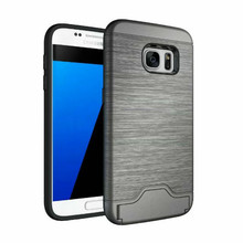 Hybrid Hard Case + Wire Drawing Pattern Mobile Phone Cover Case For Samsung Galaxy S7 Edge