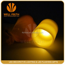 blow on/off led Flameless real wax candle indoor /outdoor use
