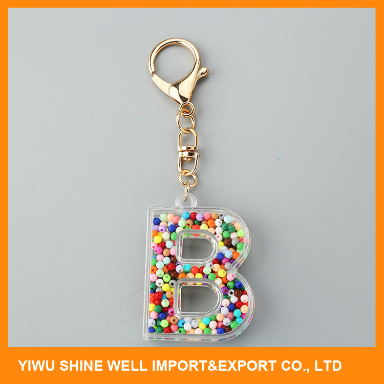 manufacturer sale Best Prices super quality alphabet shape acrylic keychain