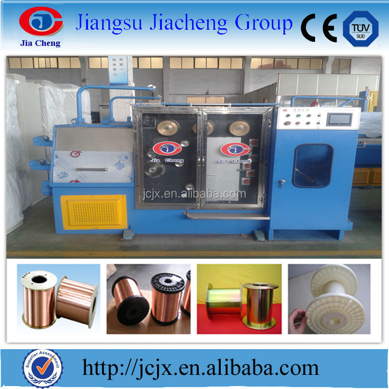 Jiacheng cable 24DT Copper medium Cu/ Al fine wire drawing making machine and continuous annealer