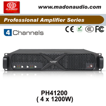PH41200, 4 Channels switching power supply with Class H sound high power amplifier , 4 channel power amplifier
