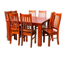 rustic design Australia New Zealand solid radiata pine wood furniture 1.5m dinning table and 6 chairs