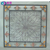 China factory Handicrafts house fleur de lis decorative wrought iron square window grill
