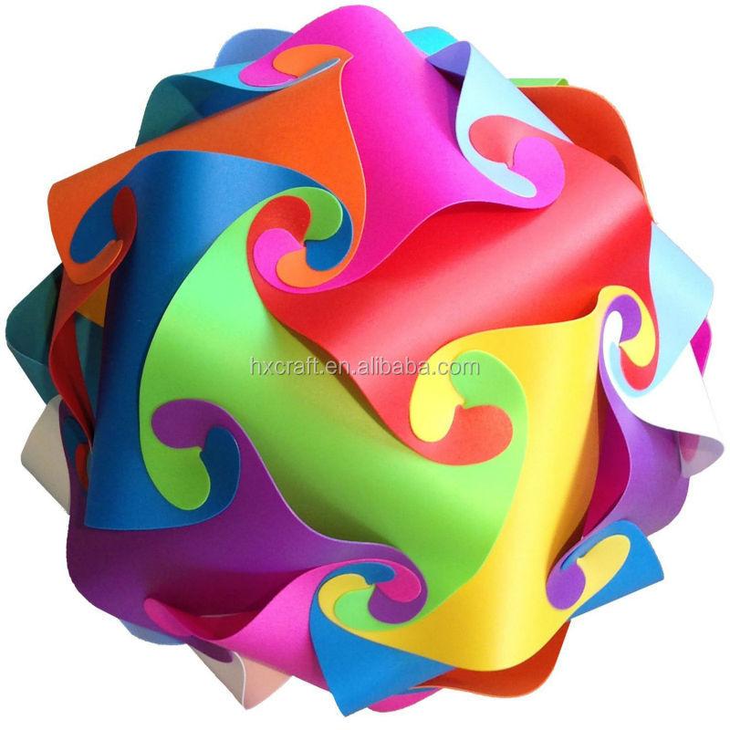 New Creative Ceiling Pendant Diy Iq Jigsaw Puzzle Lamp