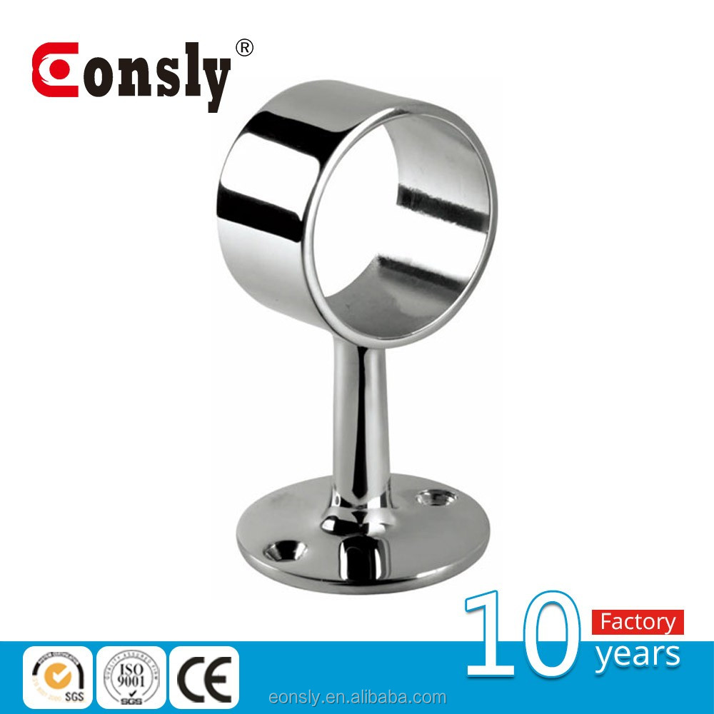 AISI 304/316 mirror/satin adjustable stainless steel deck rail brackets for handrail railing balustrade from guangzhou eonsly