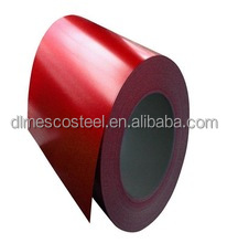 coated galvanized corrugated steel sheet wave tile for roofing system (red color)