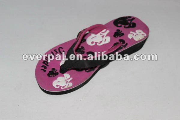 high-heeled eva printing insole women fashion slippers 2013