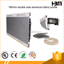 160mm double side fabric backlit light box 6063 extrusion alloy aluminum waterproof picture frame