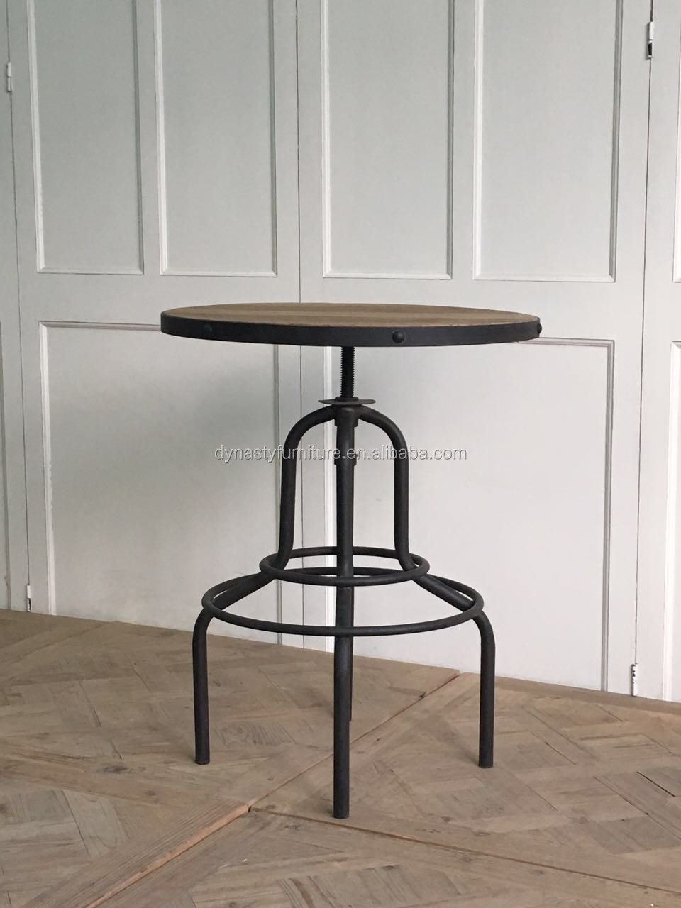 industrial <strong>bar</strong> furniture design metal <strong>bar</strong> table with wooden top goods