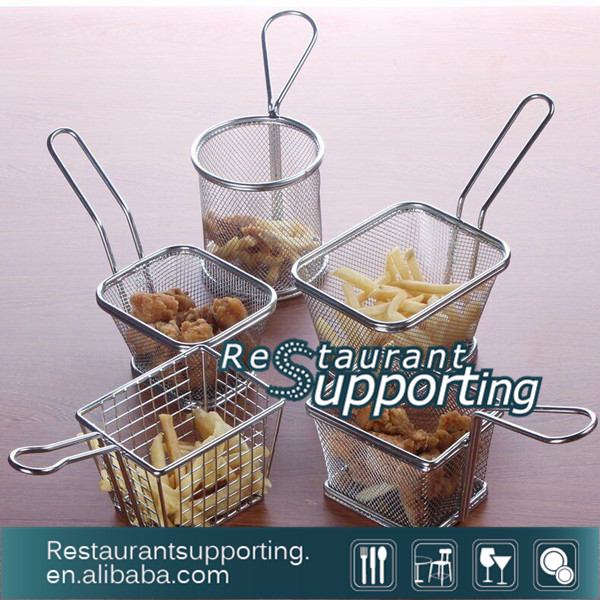 Wire Handle Stainless Steel Deep Frying Basket Mini Fryer Basket with Excellent Price