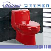 AS2055C china ceramic red color toilet