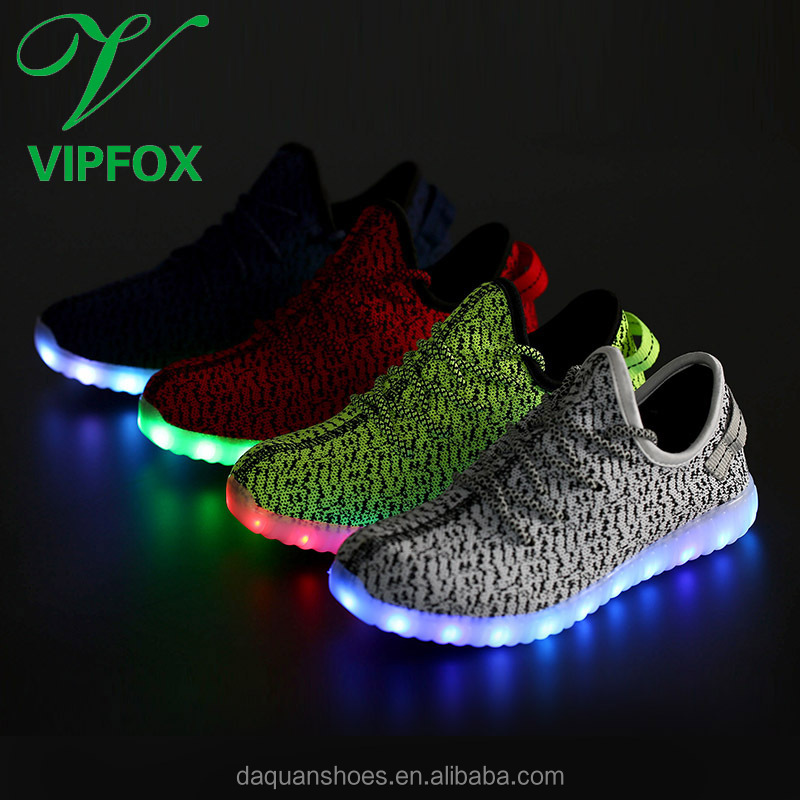2017 Spring Hot-Sale New Design Yeezi Led Shoes with 7 led color for <strong>men</strong>