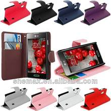SIDE FLIP PU LEATHER CASE COVER FOR LG OPTIMUS L5 II E460