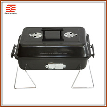 Square Charcoal BBQ Grill , Mini BBQ Requirement , Korean Outdoor BBQ Grill