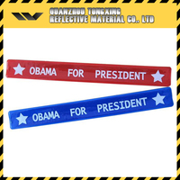 Made In China Eco-Friendly Reflective Slap Band Wristband