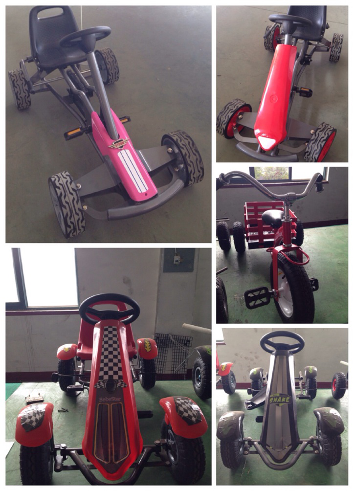 Hot ! 2 seats kids go kart for Twins Made in China