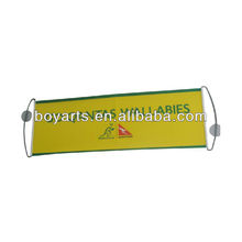 Custom advertising hand held scrolling banner