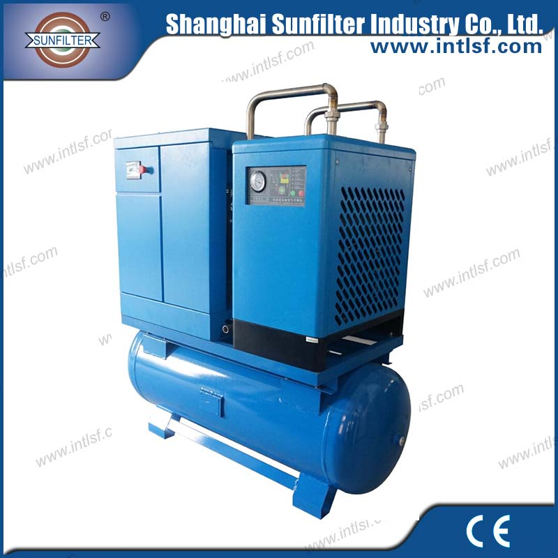 China discount belt driven rotary screw air compressor