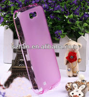 New Glossy +Matte Crystal TPU Case Cover for Samsung Galaxy Note 2 N7100