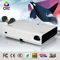 Cre X3000 high quality portable battery powered 3D wifi laser 1280*800 projector manufacturer