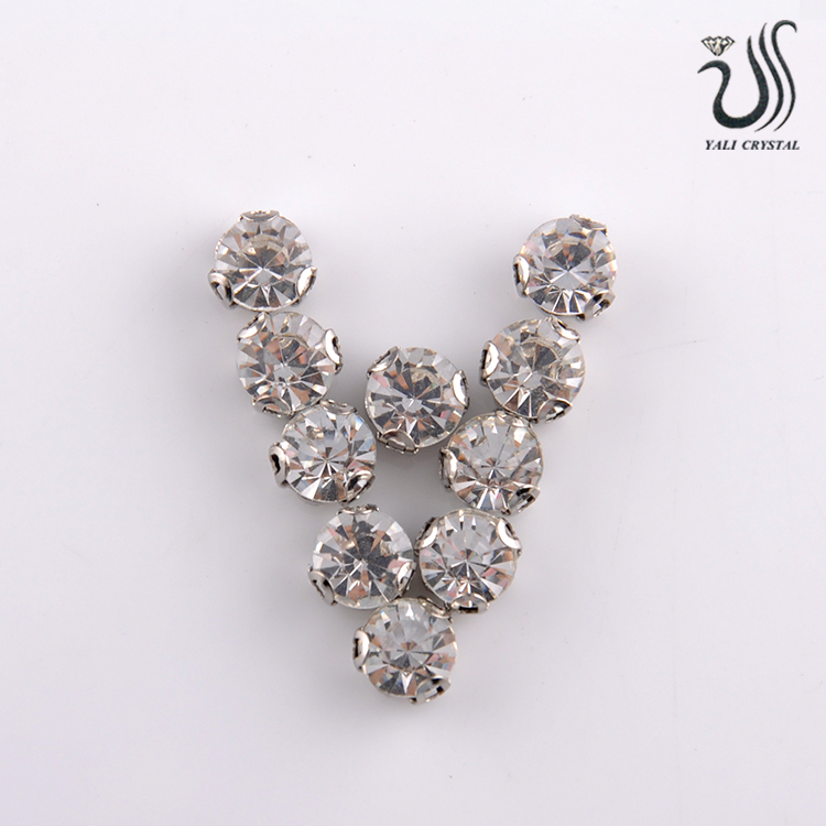 Fancy Faceted Rhinestones Decorative Flat Back Glass Stones