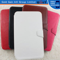 Hot Sale Flip Cover For Samsung P3200 Leather Case With Wallet and Stand Function, Leather Book Case For Galaxy P3200