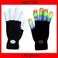 New Product Party Favor Glow In The Dark Gloves Manufacturer