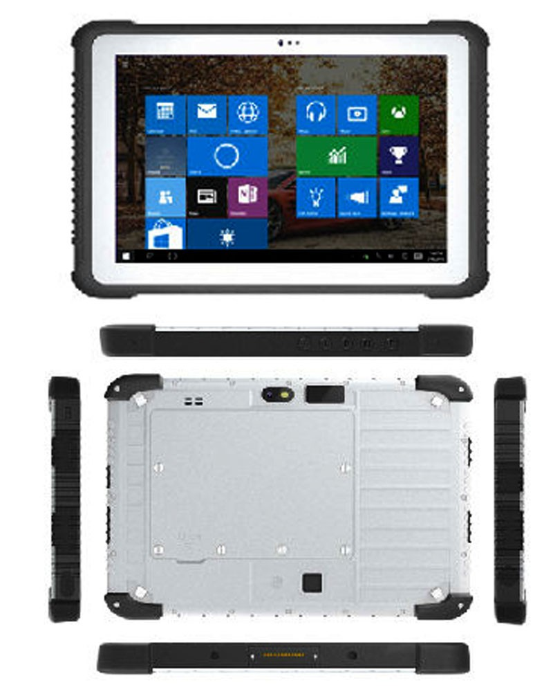 "Highton 10.1"" Screen Rugged Windows Tablet With RS232 Port Intel Cherry-Trail Z8350 Quad-core RJ45 Ethernet Rugged Computer IP65"