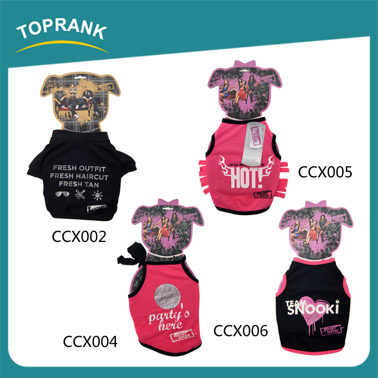 Fashion design summer pet puppy clothes wholesale plain dog t shirt